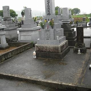 お墓のリフォーム(土間石張り)